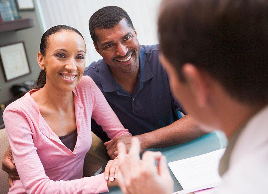 Couple seeking fertility treatments